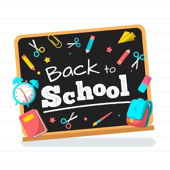 Blackboard terug naar school achtergrondstijl
