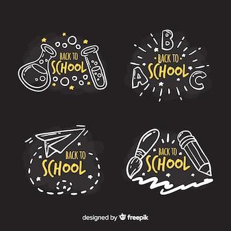 Blackboard terug naar school badge-collectie