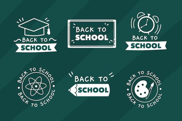 Blackboard terug naar school badges