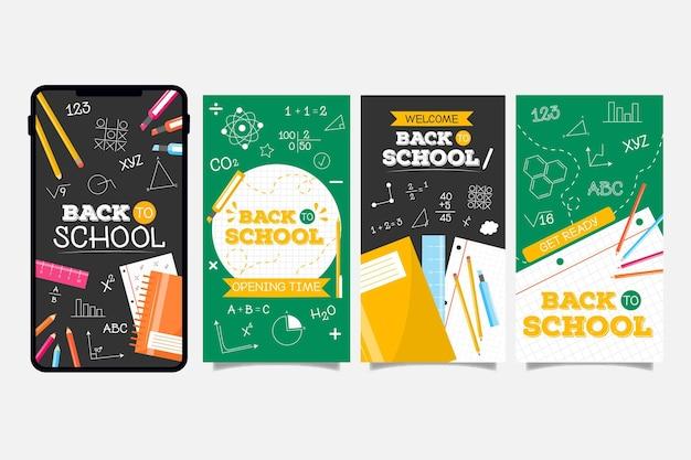 Blackboard terug naar school instagramverhalen