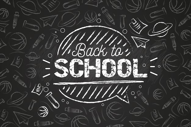 Blackboard terug naar school wallpaper thema