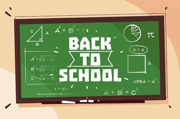 Blackboard terug naar schoolachtergrond