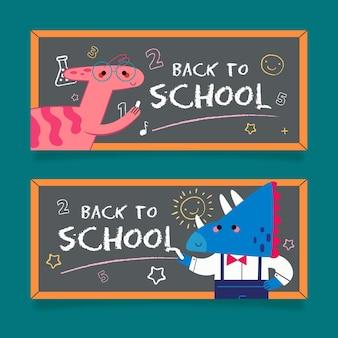 Blackboard terug naar schoolbanners