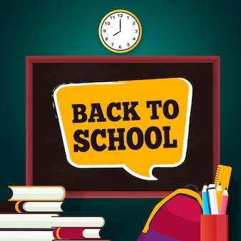 Blackboard terug naar schoolbehang