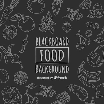Blackboard voedsel achtergrond