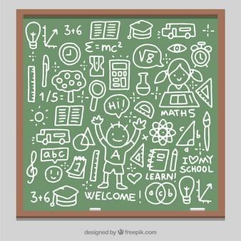 Blackboard vol leuke tekeningen