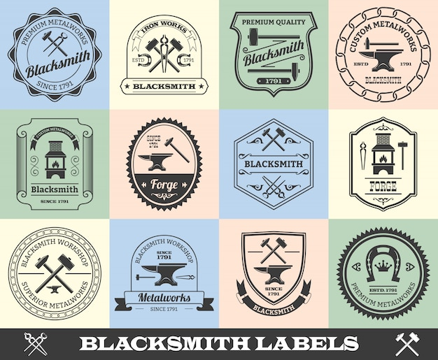 Blacksmith badge set