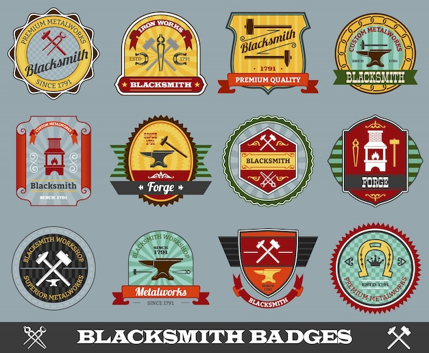 Blacksmith-badgesenset
