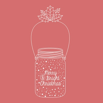 Blad en mason jar pictogram