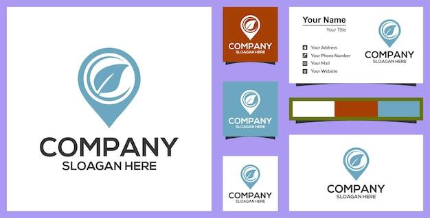 Blad kaart logo premium