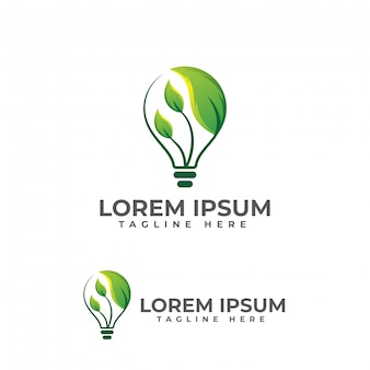 Blad lamp logo illustratie vector