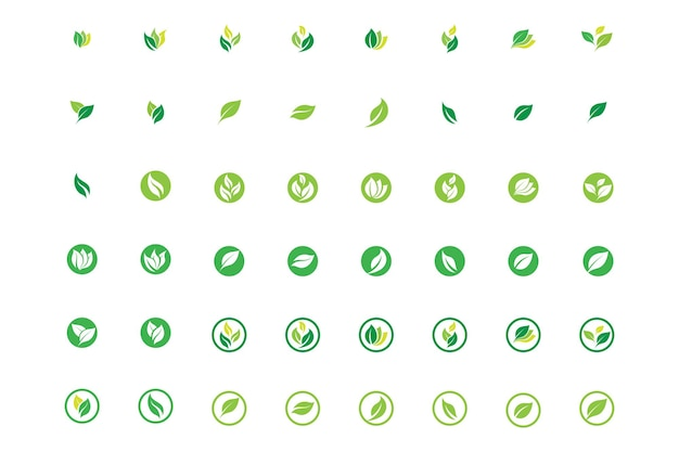 Blad logo ecologie natuur element vector