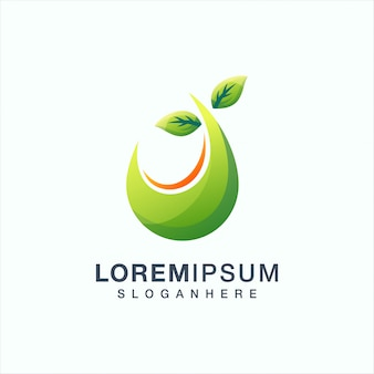 Blad logo ontwerp vectorillustratie