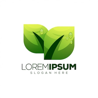 Blad logo ontwerp