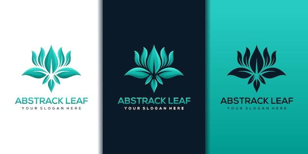 Blad logo ontwerpsjabloon