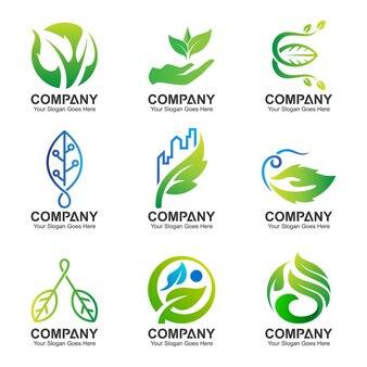 Blad logo set collectie