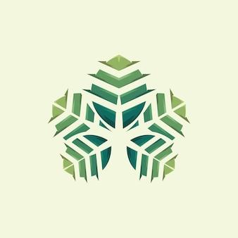 Blad logo, sjabloon, illustratie