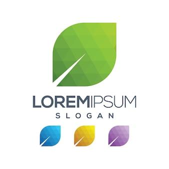 Blad logo verloop collectie ontwerp