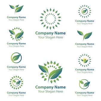 Blad natuur logo's