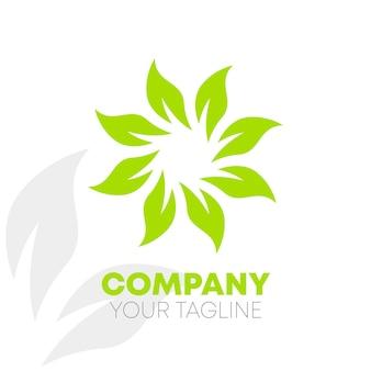 Blad natuur logo
