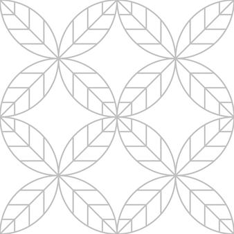 Blad ontwerpconcept in zilver kleur lijntekeningen