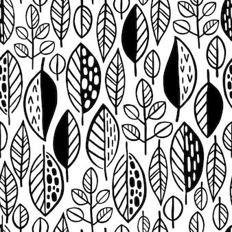 Blad patroon achtergrondkleur