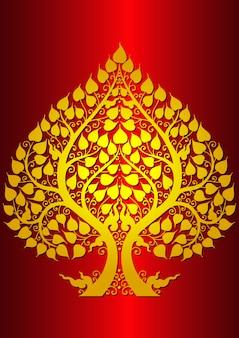 Blad poep budda thaise stijl