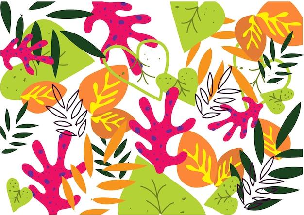 Blad van de achtergrondpatroon het abstracte fullcolor