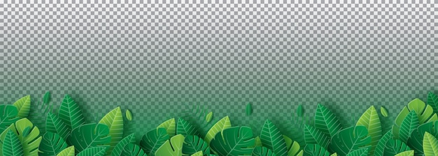 Bladeren achtergrond papercut-stijl