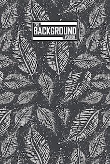 Bladeren achtergrond voor sport shirts