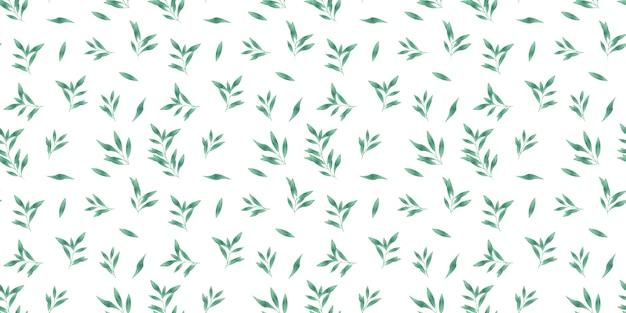 Bladeren aquarel patroon achtergrond