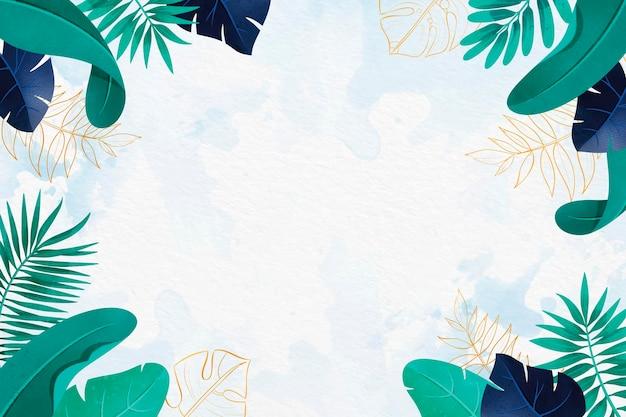 Bladeren behang met metallic folie design