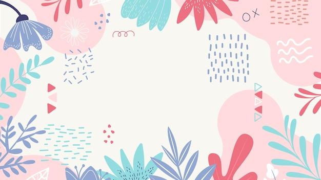 Bladeren en bloemblaadjes abstracte achtergrond