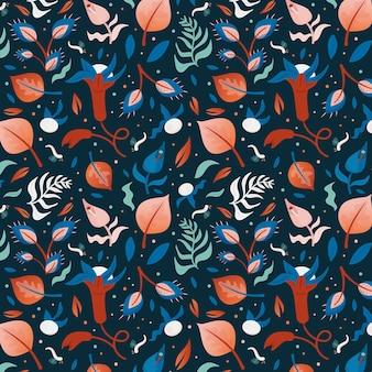 Bladeren en bloemen patroon