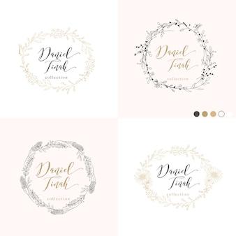 Bladeren en takken frame voor bruiloft uitnodiging