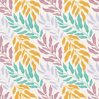 Bladeren gebladerte natuur naadloze patroon