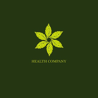 Bladeren geroond uitstekend logo