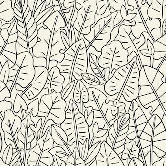 Bladeren naadloos patroon. grafisch ontwerp met geweldig blad. mode, interieur, verpakking, verpakking geschikt.