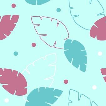Bladeren pettern design vector. naadloos tropisch bladerenpatroon
