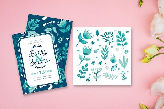 Bladeren thema voor bruiloft uitnodiging