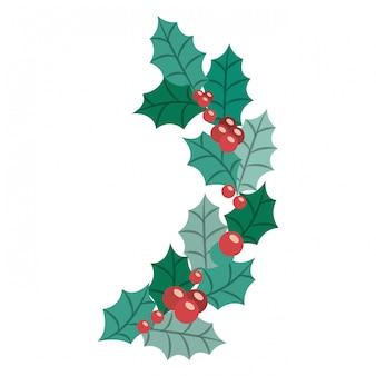 Bladeren van vrolijk kerstfeest
