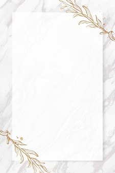 Bladgoud frame op marmeren achtergrond