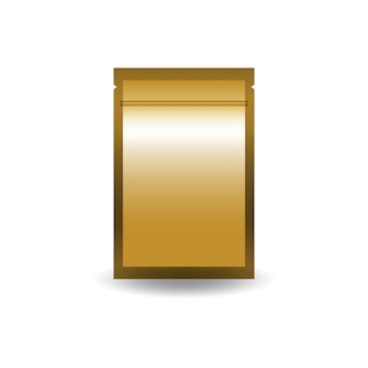 Blanco gouden dubbelzijdige platte folie ritssluiting zak.