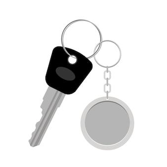 Blanco metalen sleutelhanger of sleutelhanger