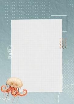 Blanco octopus papieren ontwerp
