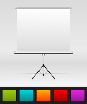 Blanco oprolbare poster en kleurenpalet