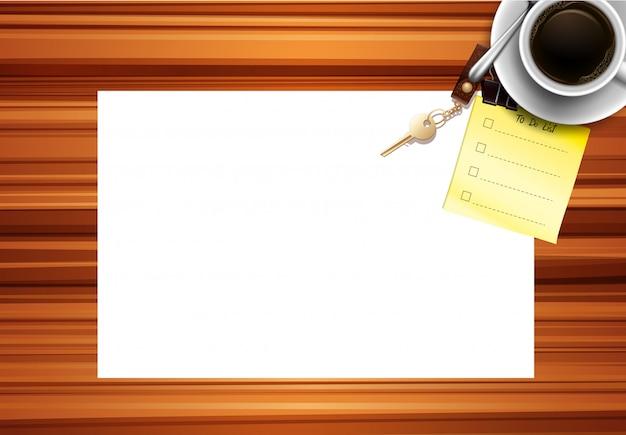 Blanco papier bureau achtergrond
