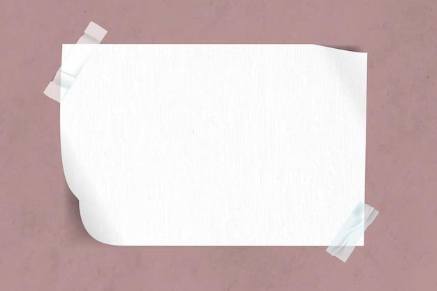Blanco papier geplakt