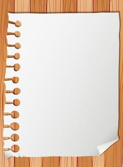 Blanco papier notitie sjabloon