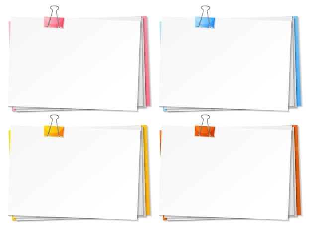 Blanco papieren en binder clipsjabloon
